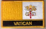 Vatican City Embroidered Flag Patch, style 09.